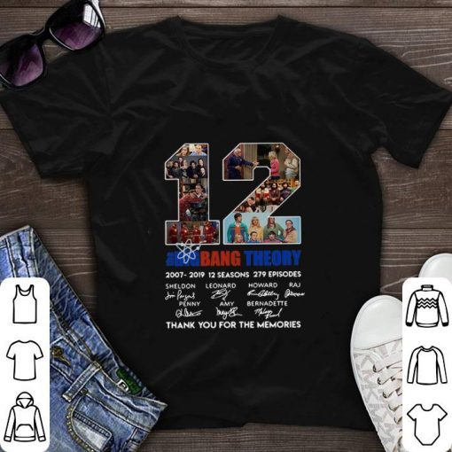 12 the Big Bang Theory signatures thank you for the memories shirt 1 1 510x510 - 12 the Big Bang Theory signatures thank you for the memories shirt