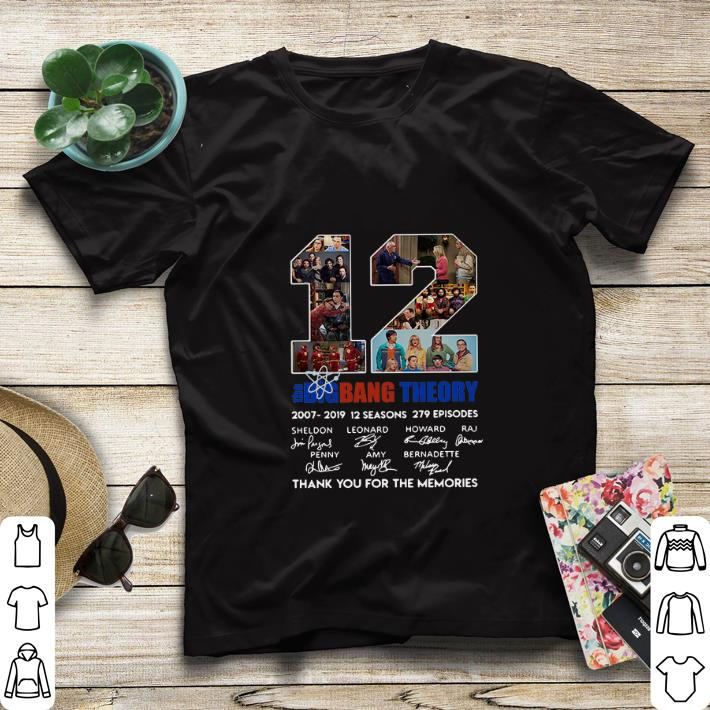 12 the Big Bang Theory signatures thank you for the memories shirt