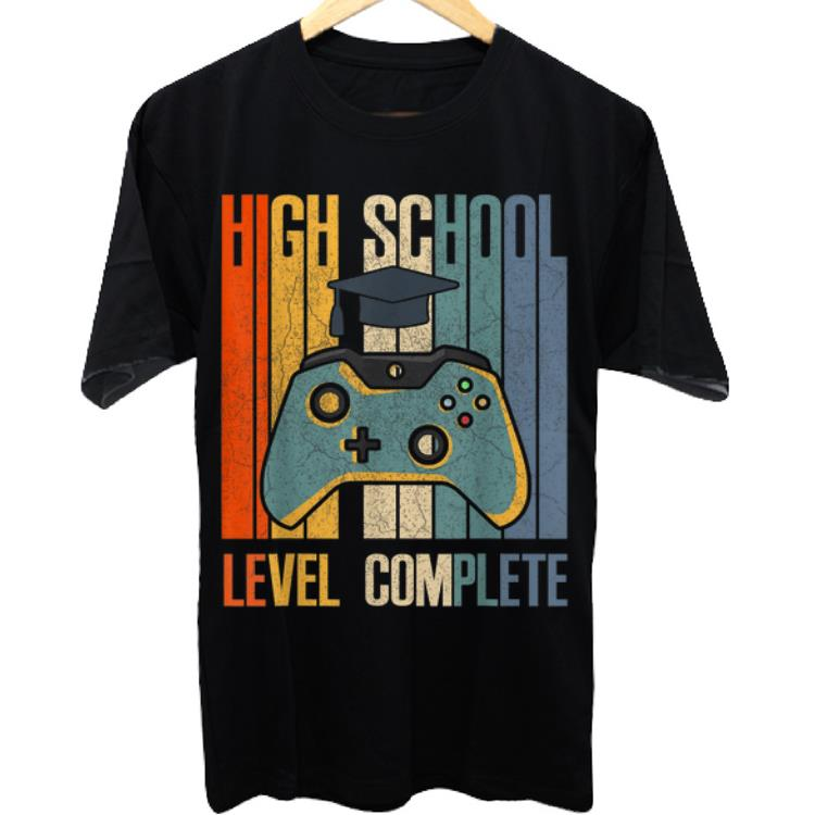 Awesome 2019 High School Graduation Level Complete shirt
