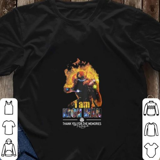 Awesome I Am Iron Man Thank You For The Memories Avengers Endgame shirt 3 1 510x510 - Awesome I Am Iron Man Thank You For The Memories Avengers Endgame shirt
