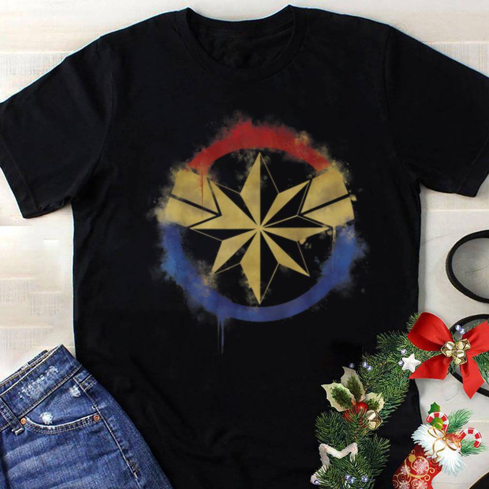 Awesome Marvel Avengers Endgame Captain Marvel Spray Paint Logo shirt