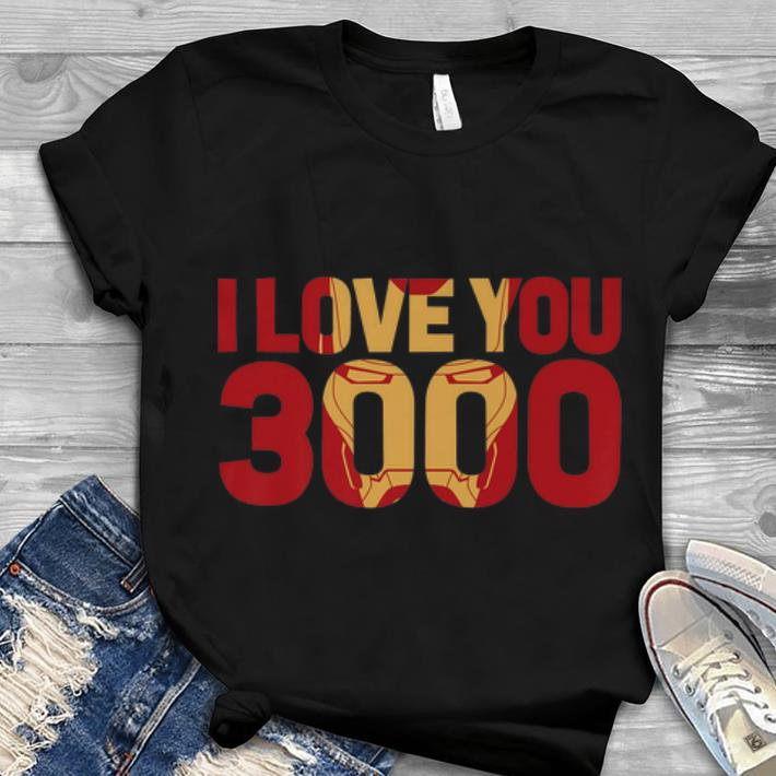 8297f348 Best Price Marvel Avengers Endgame Iron Man I Love You 3000 Text Fill shirt  1 1