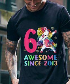 Funny 6 Awesome Since 2013 Unicorn Dabbing shirt 2 1 247x296 - Funny 6 Awesome Since 2013 Unicorn Dabbing shirt
