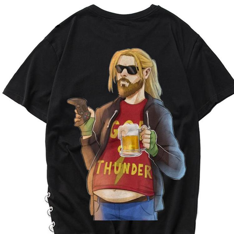 Funny Fa-Thor Fat Man Like Beer and Game God Thunder shirt