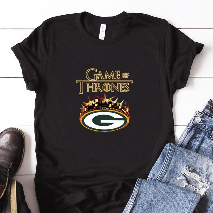 newest 91614 2b17a Funny Game of Thrones Crown Green Bay Packers shirt