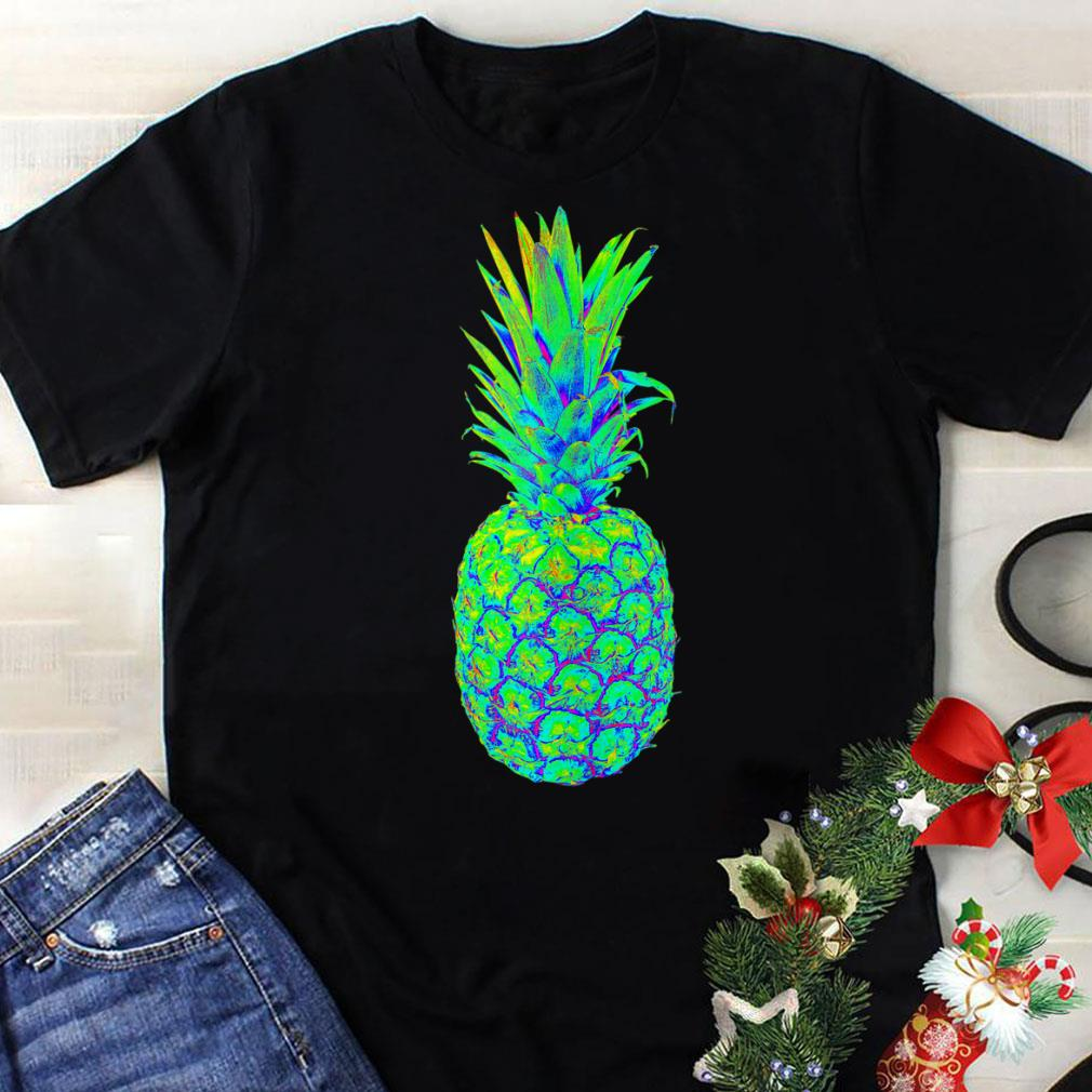 Funny Pineapple Trippy EDM Colorful Rave shirt