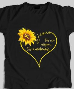 Funny Sunflower Jesus it s not religion it s a relationship shirt 1 1 247x296 - Funny Sunflower Jesus it's not religion it's a relationship shirt
