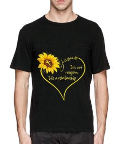 Funny Sunflower Jesus it s not religion it s a relationship shirt 2 1 247x296 - Funny Sunflower Jesus it's not religion it's a relationship shirt