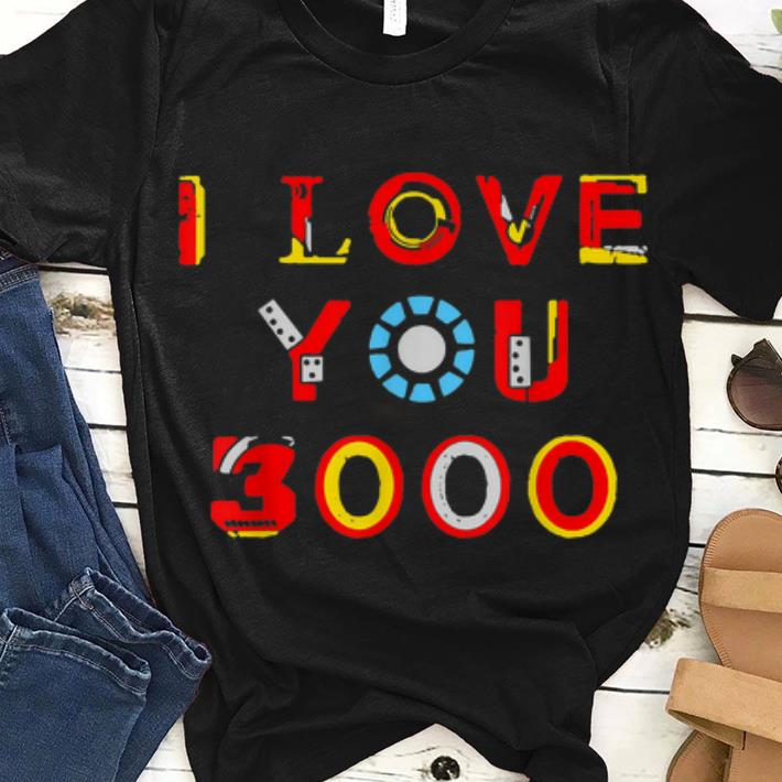 Great I Love You 3000 Dad armour iron man style Shirt