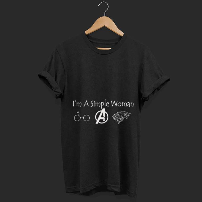 Nice I'm A Simple Woman Wolf Mother Day shirt