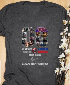 Official 08 years of Captain America Chris Evans always keep fighting shirt 1 1 247x296 - Official 08 years of Captain America Chris Evans always keep fighting shirt