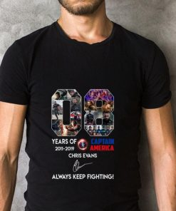 Official 08 years of Captain America Chris Evans always keep fighting shirt 2 1 247x296 - Official 08 years of Captain America Chris Evans always keep fighting shirt