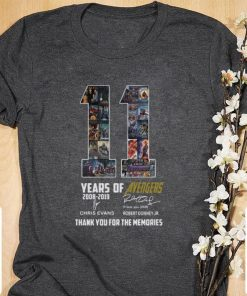 Official 11 years of Avengers signatures thank you for the memories shirt 1 1 247x296 - Official 11 years of Avengers signatures thank you for the memories shirt