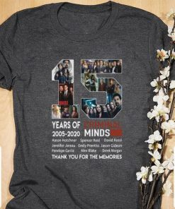 Official 15 years of Criminal Minds 2005 2020 thank you for the memories shirt 1 1 247x296 - Official 15 years of Criminal Minds 2005-2020 thank you for the memories shirt