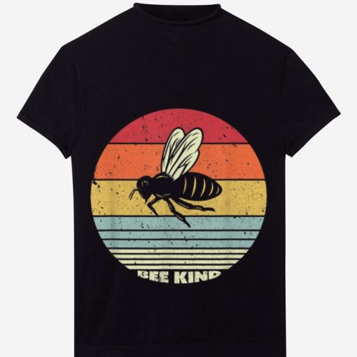 Official Bee kind Sunset Retro Shirt 1 1 510x510 - Official Bee kind Sunset Retro Shirt