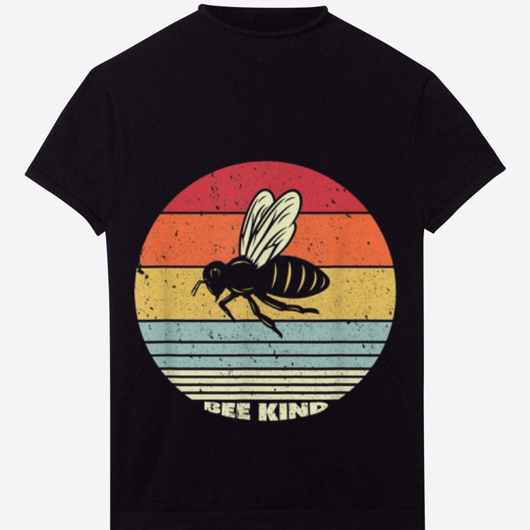 Official Bee kind Sunset Retro Shirt