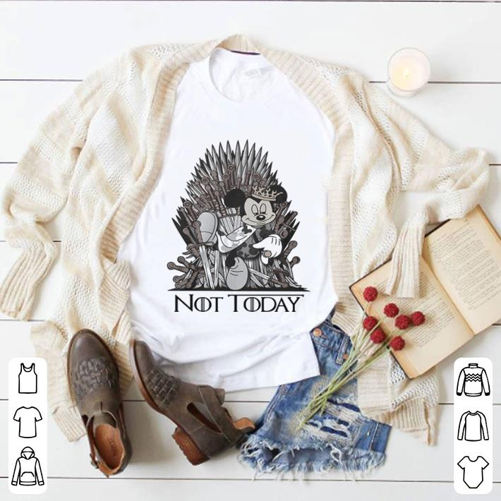 Official Mickey mouse King Not Today Game of Thrones shirt