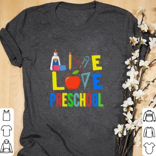 Official Teacher Apple Live love preschool shirt 1 1 510x510 - Official Teacher Apple Live love preschool shirt
