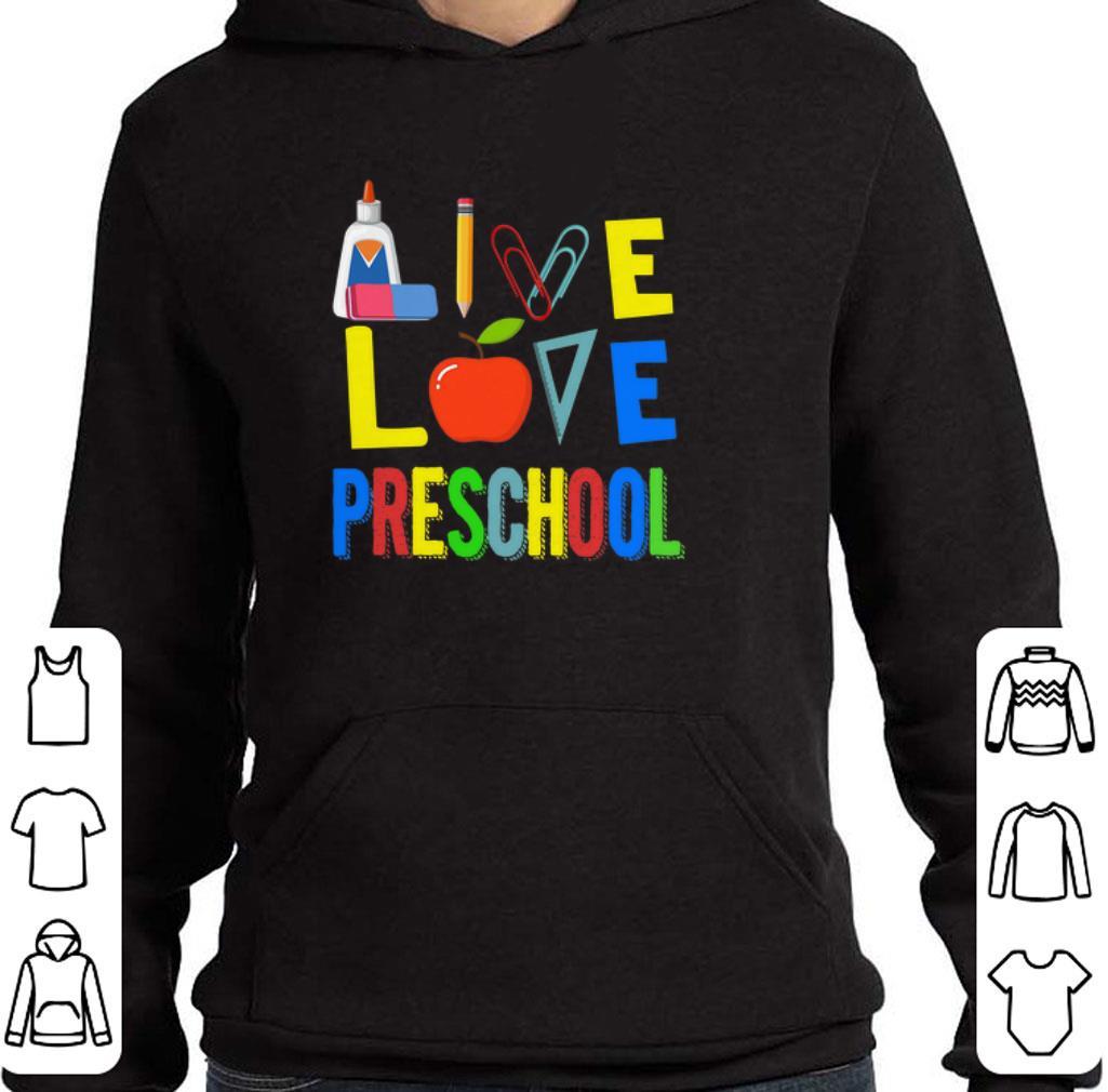 Official Teacher Apple Live love preschool shirt