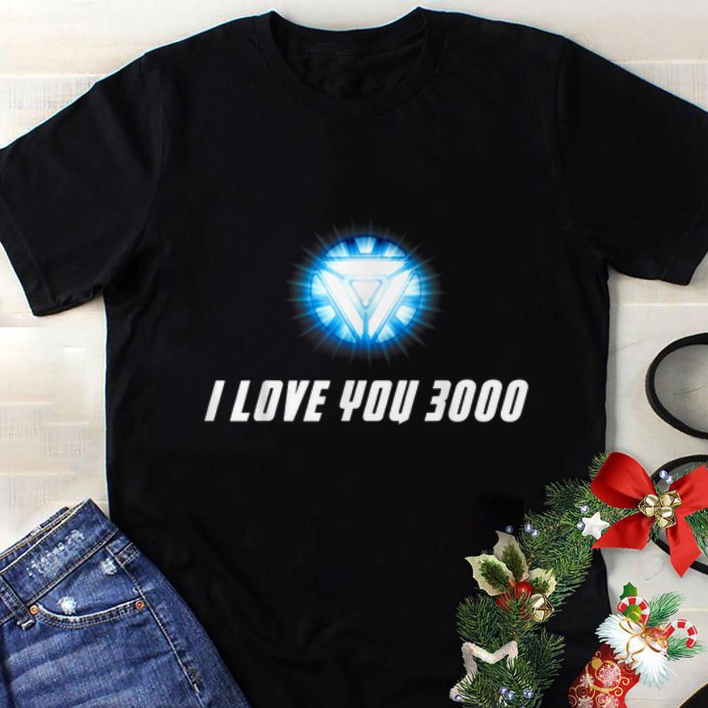 Original Arc Reactor I Love You 3000 End Game shirt
