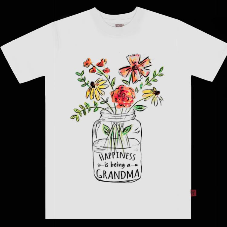 Original Happiness is being a Grandma Life Flower Art Mother day shirt