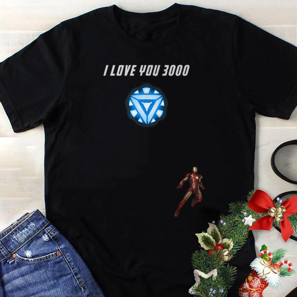 Original I Love You 3000 Iron man Arc reactor End game shirt
