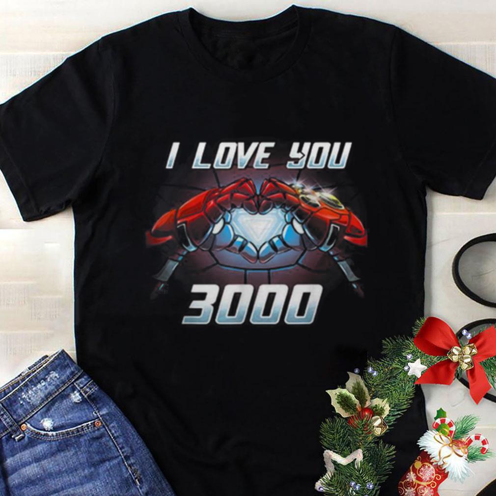 Original I love you three thousand Iron man End Game Infinity Stone shirt