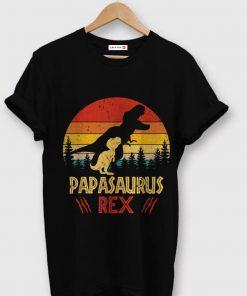 Papas Saurus T rex Dinosaur Fathers Day shirt 1 1 247x296 - Papas Saurus T-rex Dinosaur Fathers Day shirt
