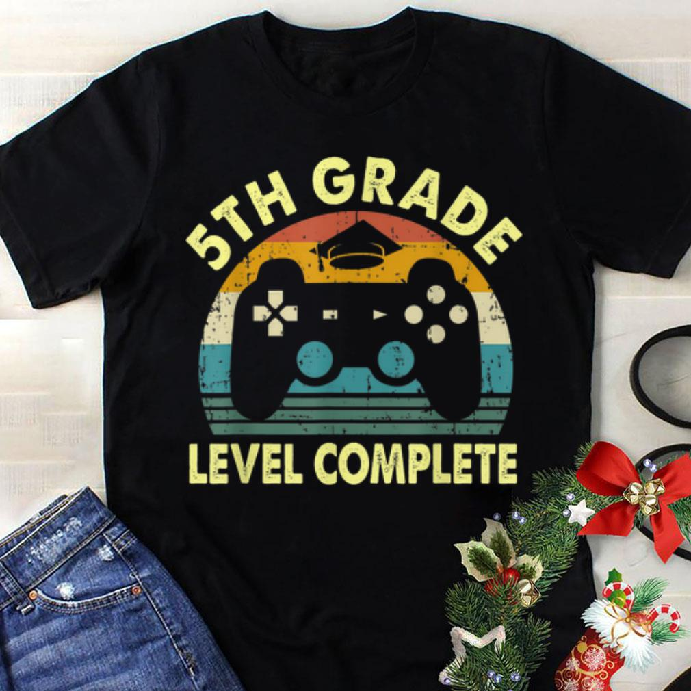 Premium 5th grade level complete Video Gamer Play Station Handle game Graduation shirt