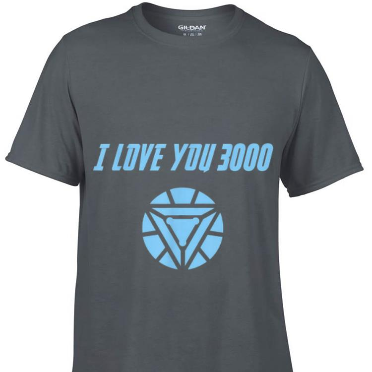 Premium Marvel End game I love you 3000 Arc reactor shirt