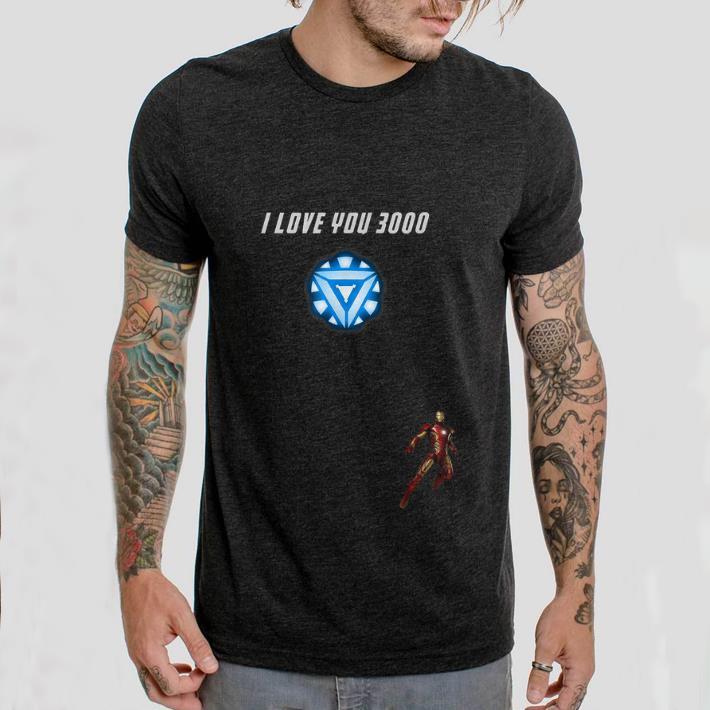 65443e5ab Top Iron man Arc reactor I Love You 3000 End game Marvel shirt 2 1 510x510