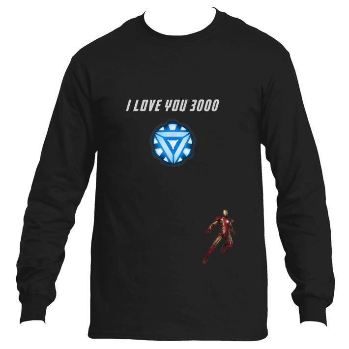 Top Iron man Arc reactor I Love You 3000 End game Marvel shirt