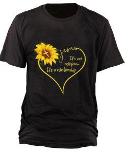 Top Sunflower Jesus it s not religion it s a relationship shirt 1 1 247x296 - Top Sunflower Jesus it's not religion it's a relationship shirt