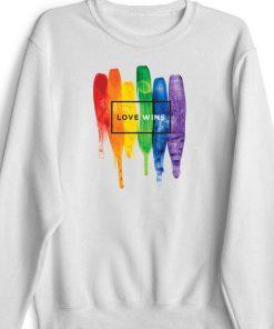 Watercolor LGBT Love Wins Rainbow Paint shirt 1 1 247x296 - Watercolor LGBT Love Wins Rainbow Paint shirt