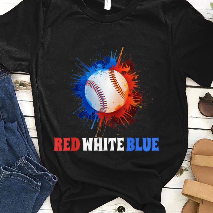 4th July Red White Blue Baseball Splash Usa Patriot shirt