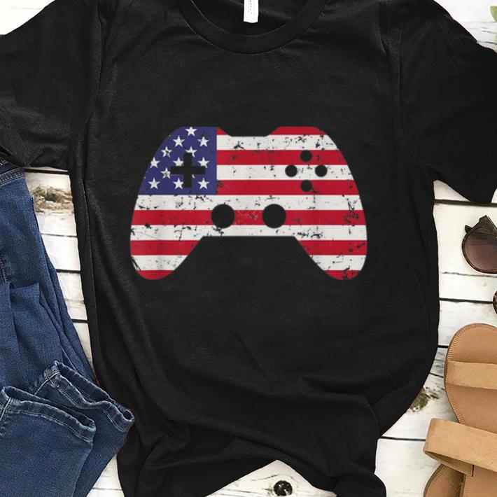 4th Of July Usa Flag Video Game Gamer Boys Gift sjirt
