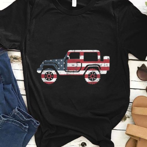 American Flag Jeep 4th Of July Jeep Gifts Tee shirt 1 1 510x510 - American Flag Jeep, 4th Of July Jeep Gifts Tee shirt