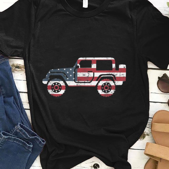 American Flag Jeep, 4th Of July Jeep Gifts Tee shirt