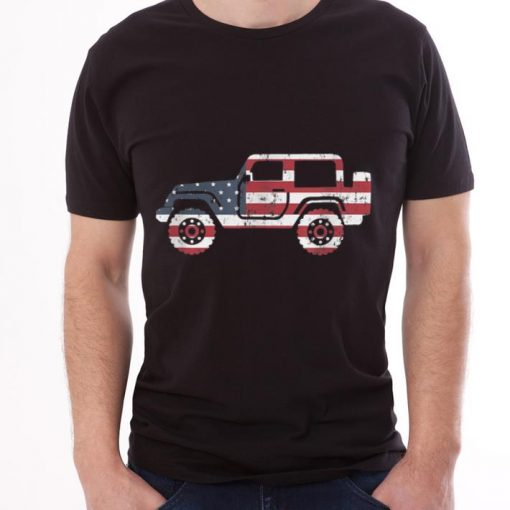 American Flag Jeep 4th Of July Jeep Gifts Tee shirt 3 1 510x510 - American Flag Jeep, 4th Of July Jeep Gifts Tee shirt
