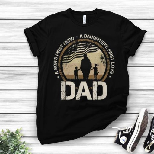 Awesome A Son s First Hero A Daughter s First Love Dad Veteran American Flag shirt 1 2 1 510x510 - Awesome A Son's First Hero A Daughter's First Love Dad Veteran American Flag shirt