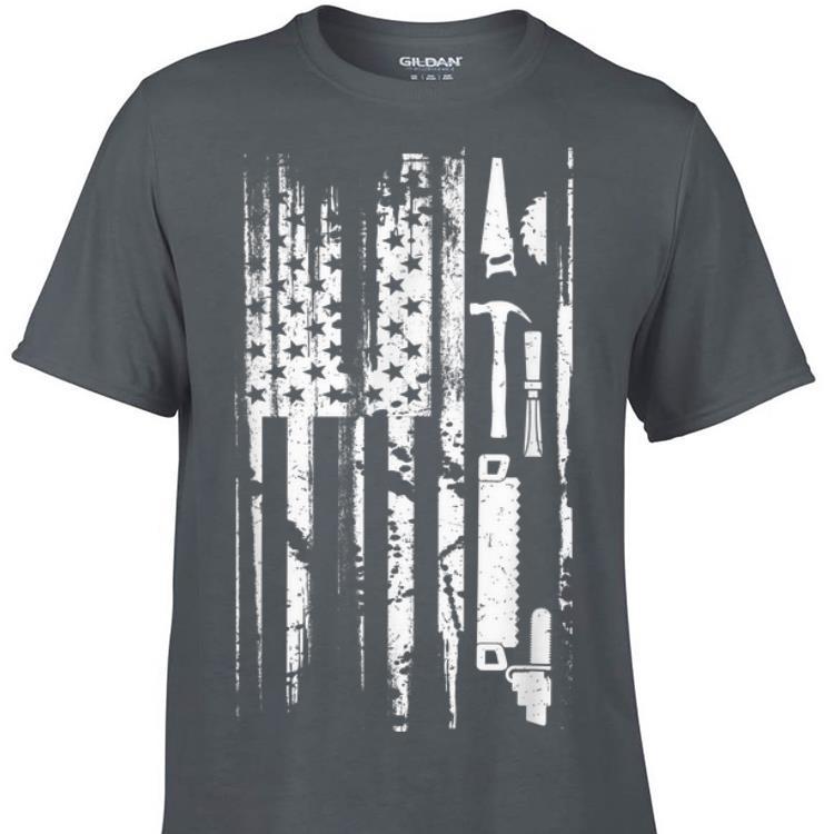 Awesome American Flag Carpenter Wood shirt