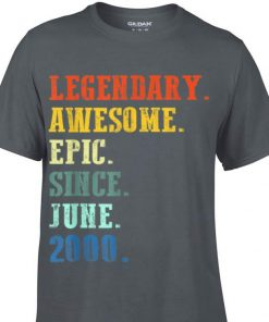 Awesome Legendary Awesome Epic Since June 2000 Vintage shirt 1 1 247x296 - Awesome Legendary Awesome Epic Since June 2000 Vintage shirt