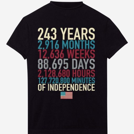 Hot 4th Of July Flag 243 Years Time Of The Independence shirt 1 1 510x510 - Hot 4th Of July Flag 243 Years Time Of The Independence shirt