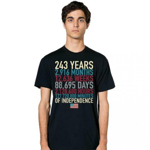 Hot 4th Of July Flag 243 Years Time Of The Independence shirt 2 1 510x510 - Hot 4th Of July Flag 243 Years Time Of The Independence shirt