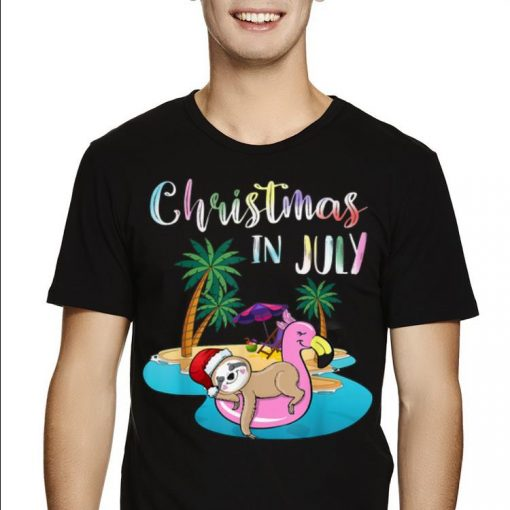 Hot Christmas In July Lazy Sloth On The Flamingo Float shirt 2 1 510x510 - Hot Christmas In July Lazy Sloth On The Flamingo Float shirt