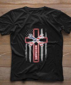 Hot Mechanic american flag cross shirt 1 1 247x296 - Hot Mechanic american flag cross shirt