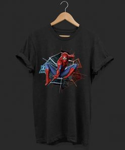Marvel Spider man Broken Glass Web Leap Graphic shirt 1 1 247x296 - Marvel Spider-man Broken Glass Web Leap Graphic shirt