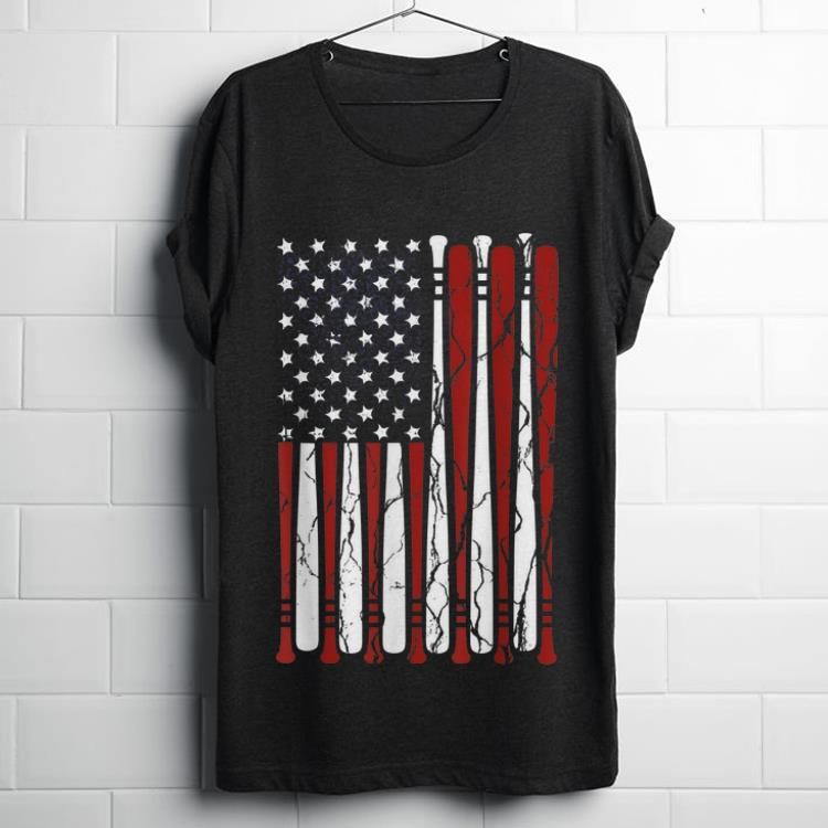 Nice American Flag Baseball Bat 4th Of July Independence Day shirt