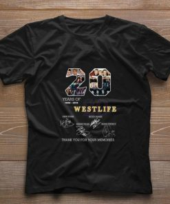 Official 20 years of Westlife thank you for your memories shirt 1 1 247x296 - Official 20 years of Westlife thank you for your memories shirt