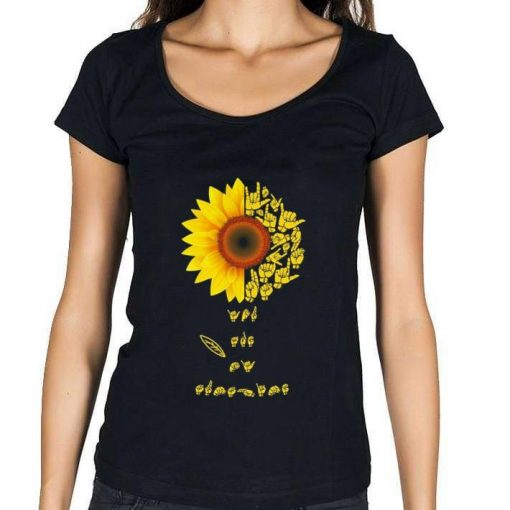 Official Sunflower sign language you are sunshine shirt 1 1 510x510 - Official Sunflower sign language you are sunshine shirt